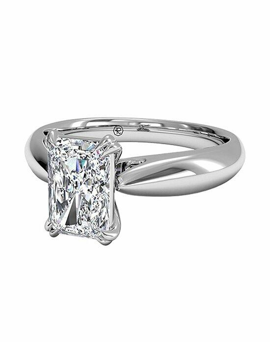 Ritani Radiant Cut Solitaire Diamond Tulip Cathedral Engagement Ring in Platinum Engagement Ring photo