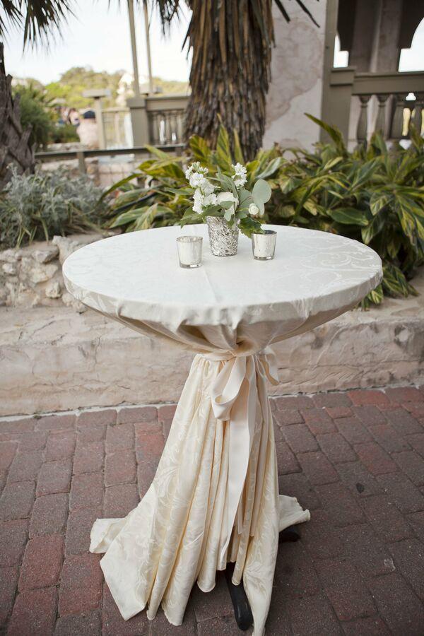 Draped Wedding Arbor Ceremony