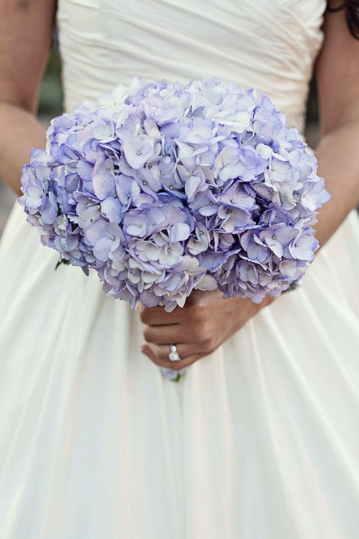 Wedding Flowers With Hydrangea : Purple hydrangea bridal bouquet