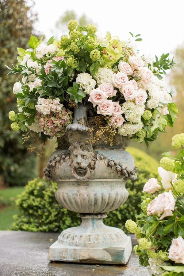 Lime green wedding flower arrangements pink and green arrangement with hydrangeas and roses mightylinksfo