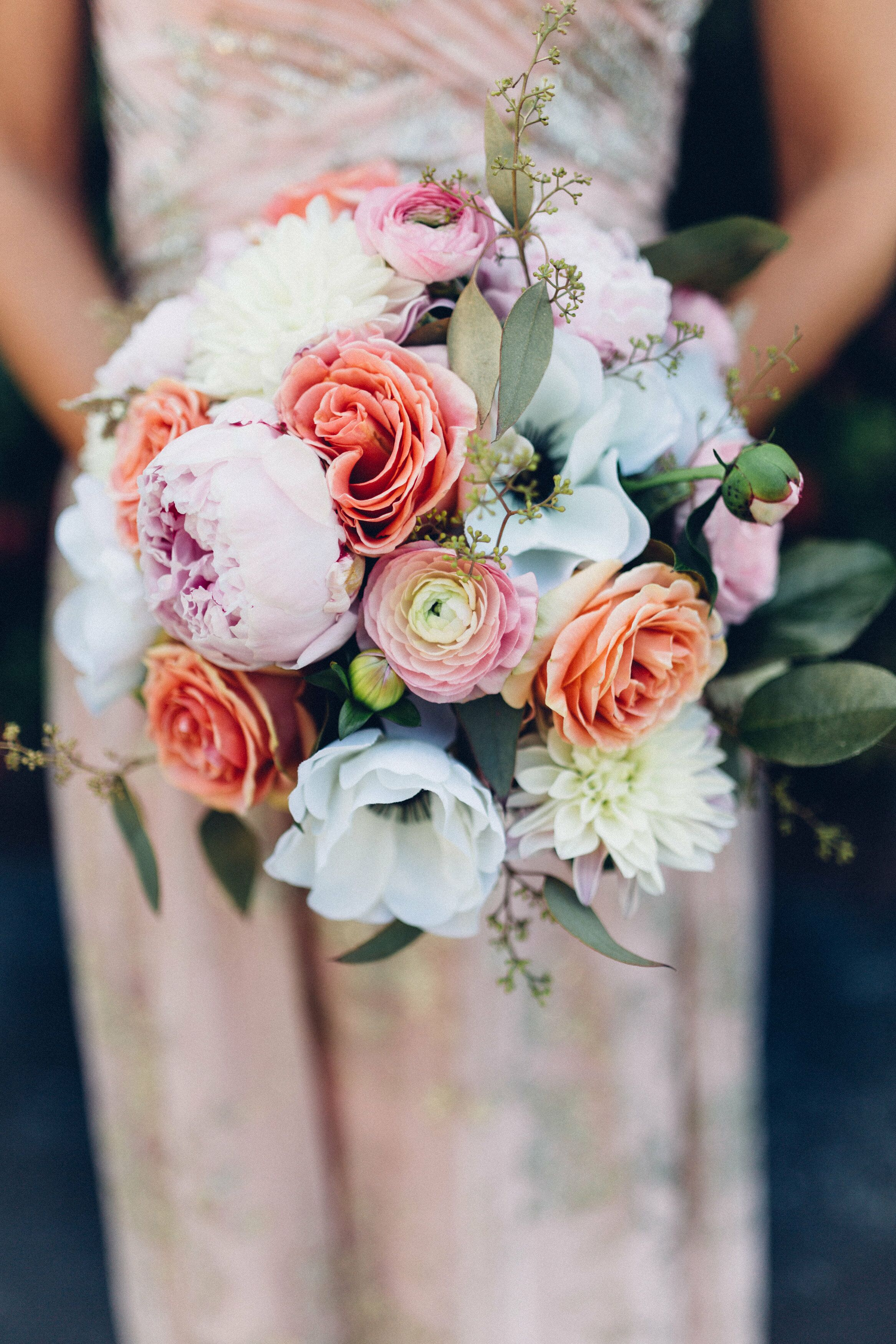 Peony Rose Ranunculus And Anemone Bouquet