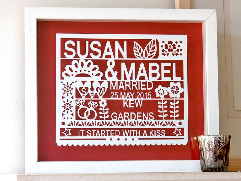 personalized art gay lesbian wedding gift ideas - Wedding Gift Ideas