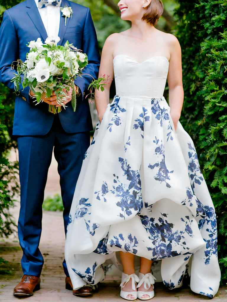 20 dreamy blue wedding gowns for Wedding dresses with royal blue accents