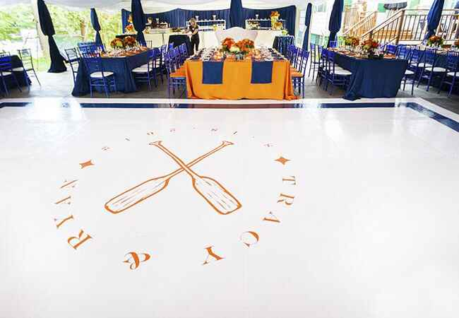 Custom Dance Floor with Vinyl Decal