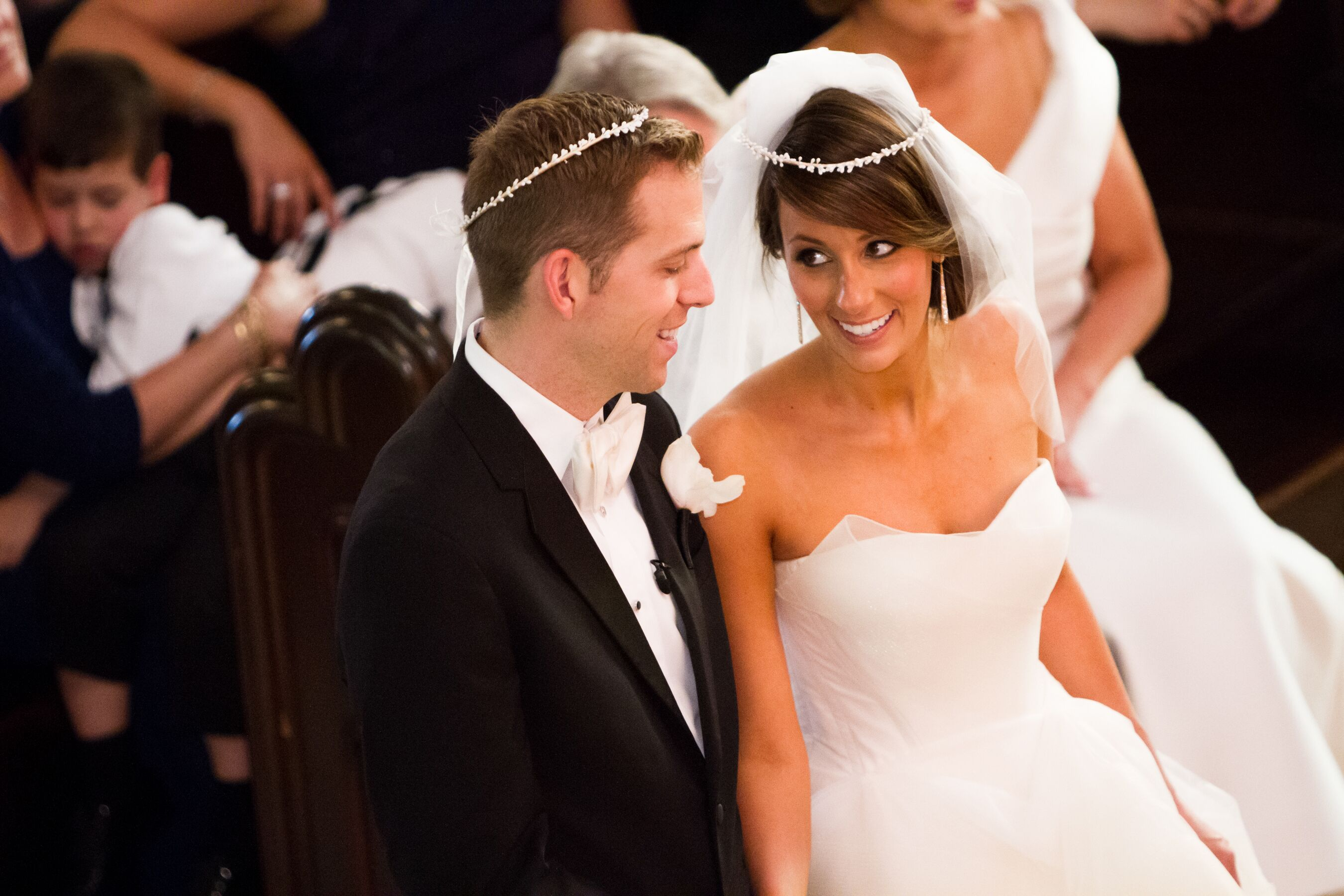 The S Greek Orthodox Wedding Ceremony Included Traditional Stefana Crowns A Symbol Of Unity