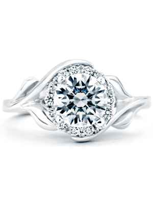 Mark Schneider floral engagement ring