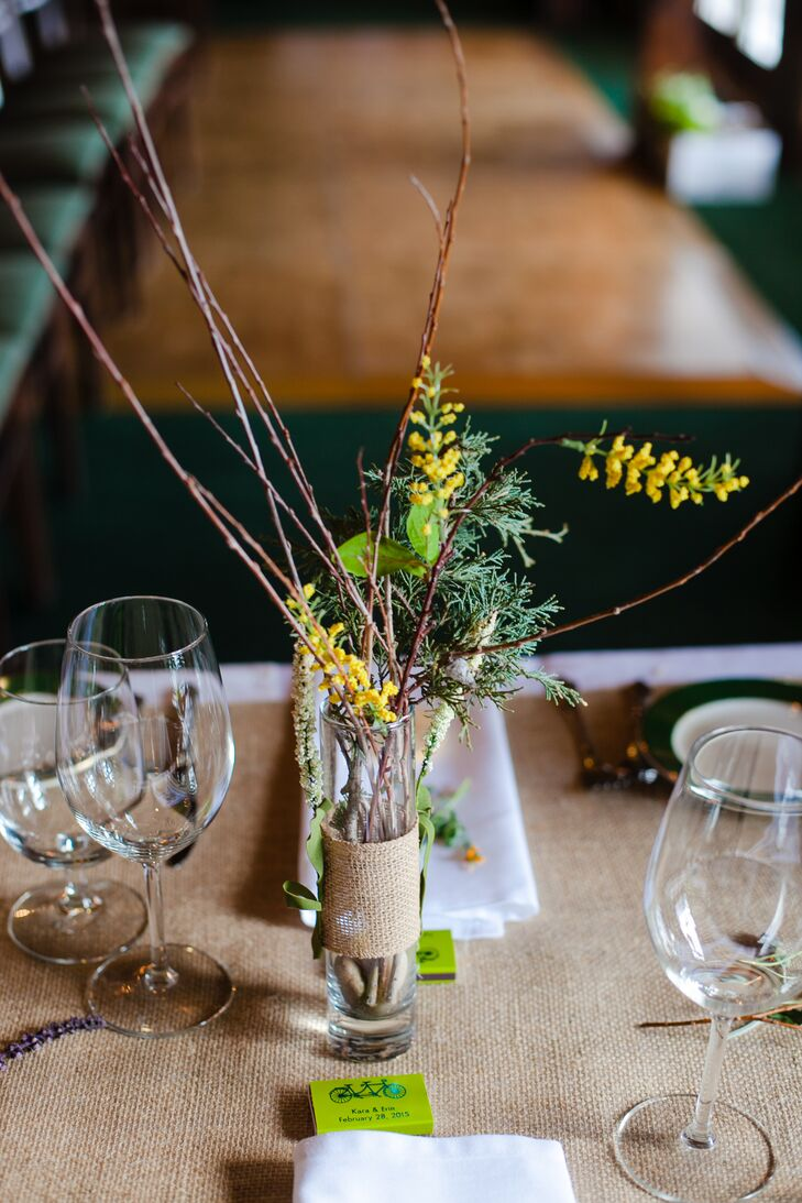 Diy twig and greenery centerpieces