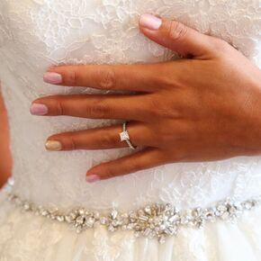 Wedding nails princess cut diamond engagement ring junglespirit Image collections