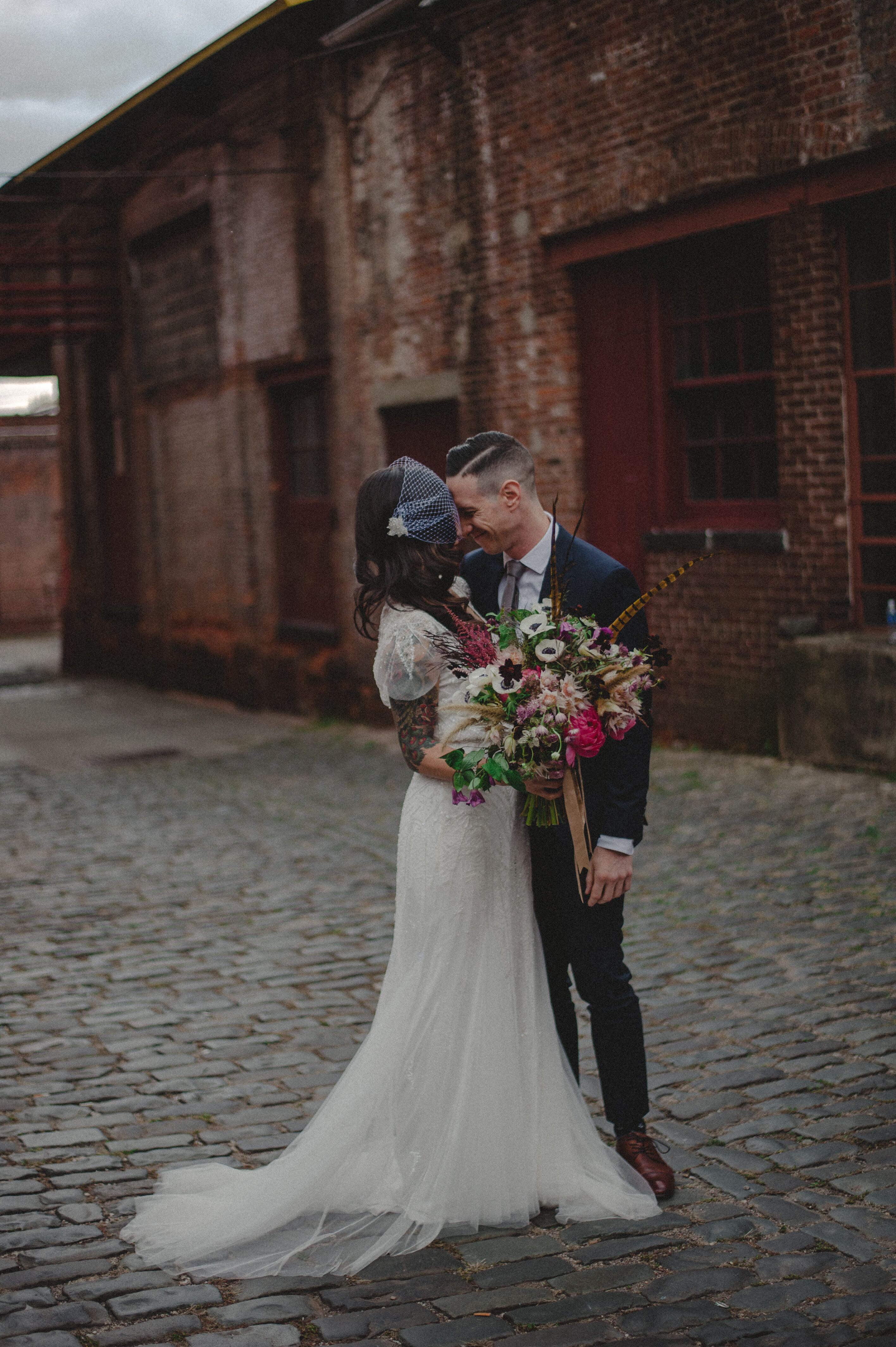 An Urban Modern Wedding At The Art Factory In Paterson New Jersey