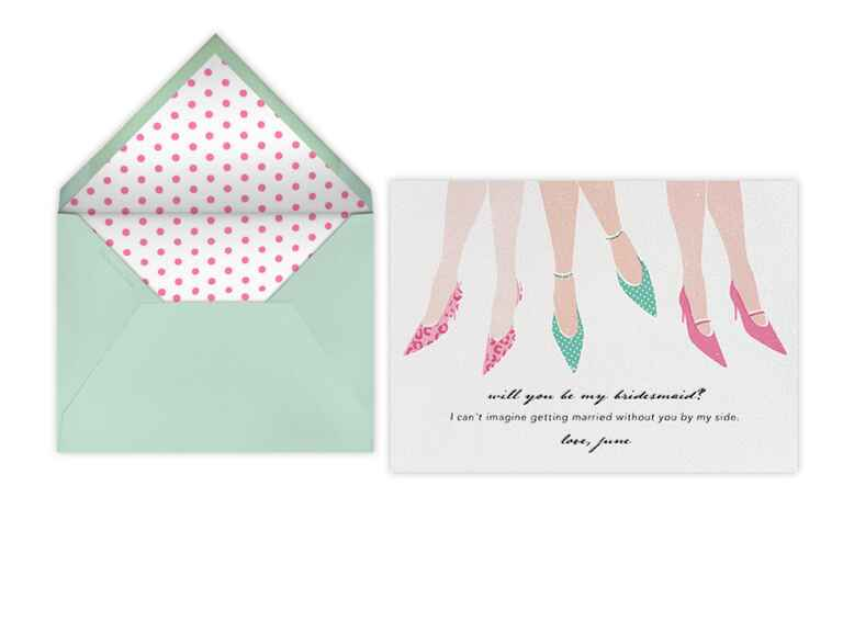 Paperless Post bridesmaid proposal card