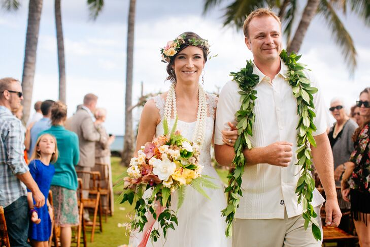A Natural, Tropical Wedding At White Orchid Beach House In