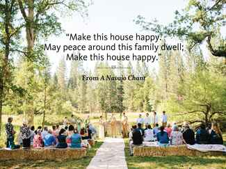 A Navajo Chant wedding ceremony