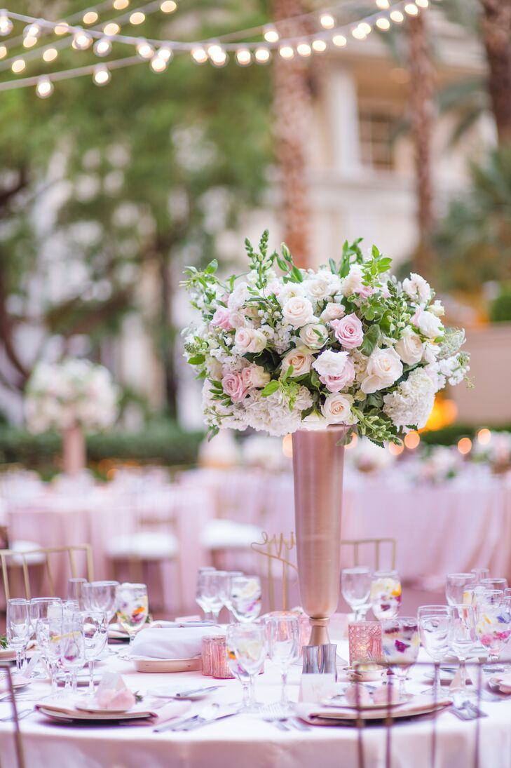 Elegant Pink And Gold Centerpieces