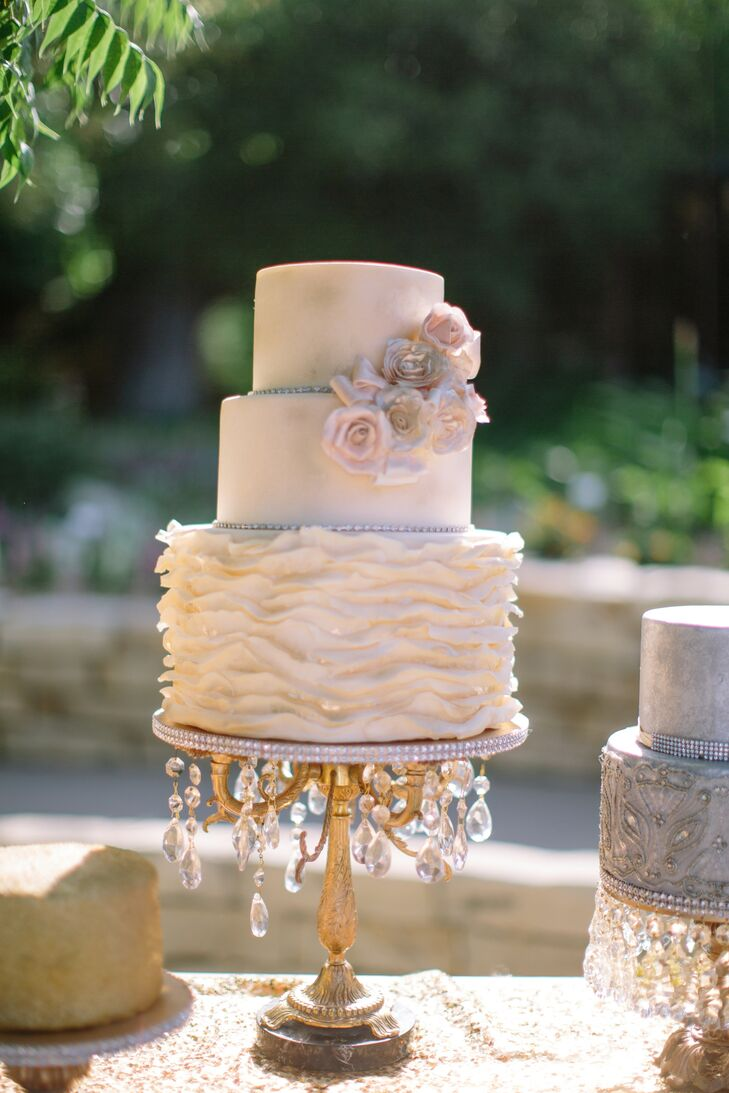 Crystal And Gold Wedding Cake Stand