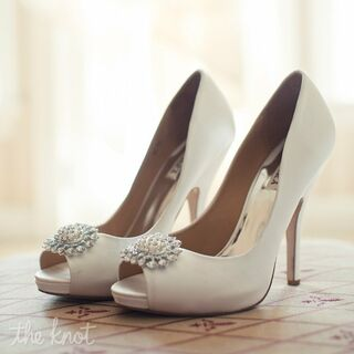 Real White Wedding Shoes