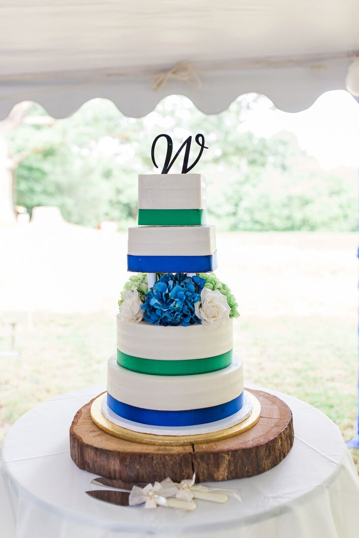 blue green and white wedding cakes blue green and white wedding cake 11988