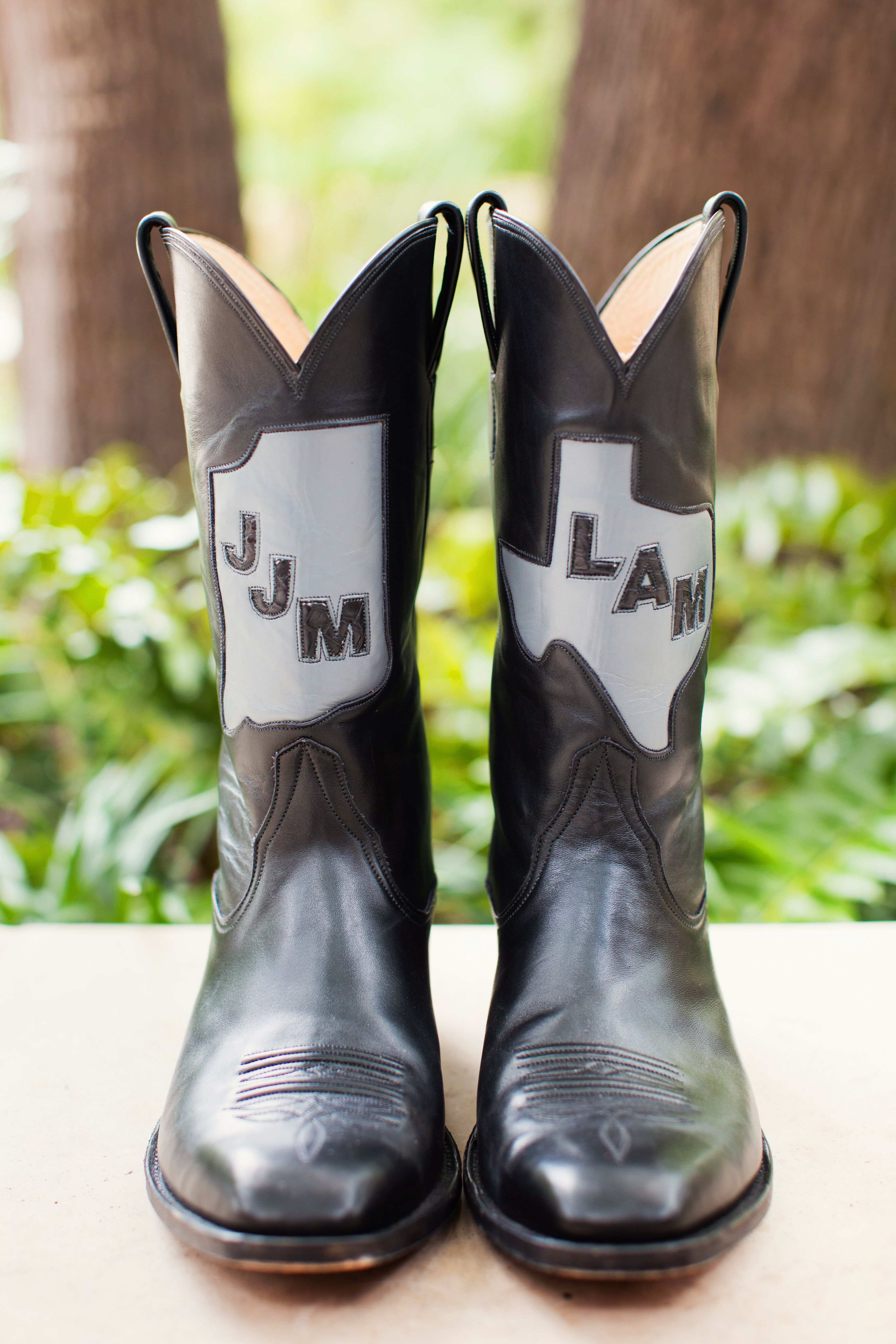 custom monogrammed cowboy boots photo wedding cowboy boots