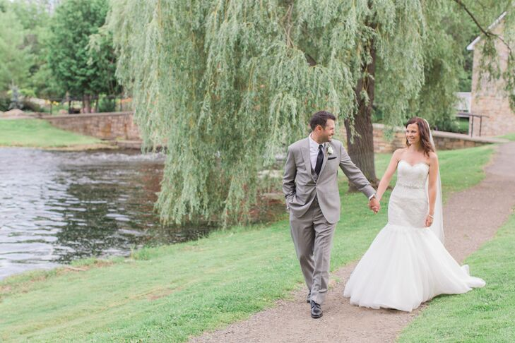 Wedding Insurance Ontario: A Sweet Mint And Gold Wedding At Code's Mill In Perth, Ontario