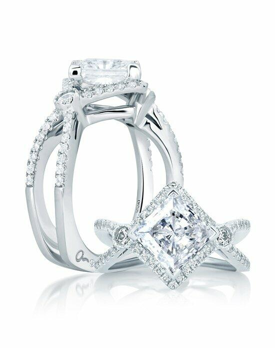 A.JAFFE Deco Double Shank Bubble Prong Engagement Ring, MES647 Engagement Ring photo