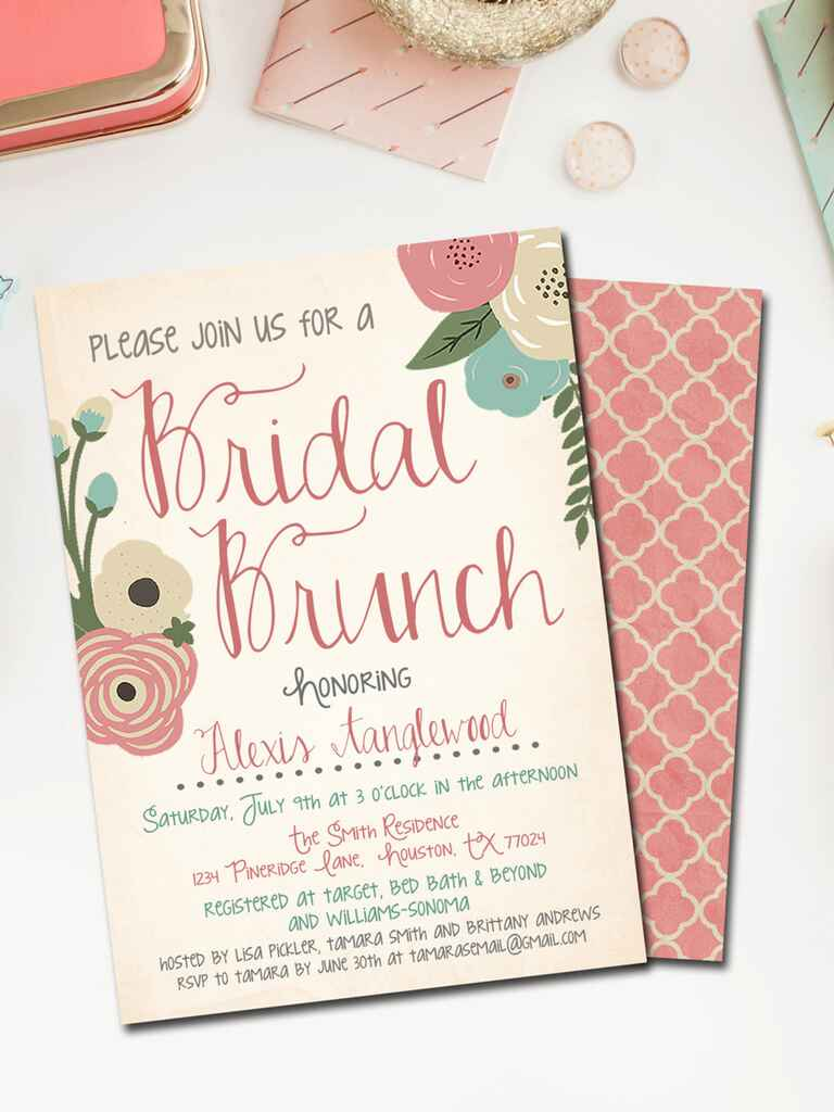 Fan image in printable bridal shower invites