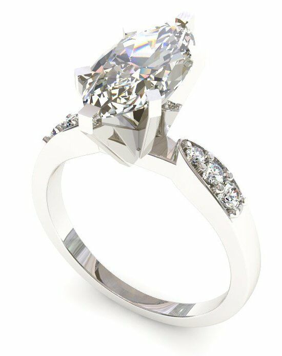 Enchanted Diamonds Tapered Pave Marquise PV55-4W-M Engagement Ring photo