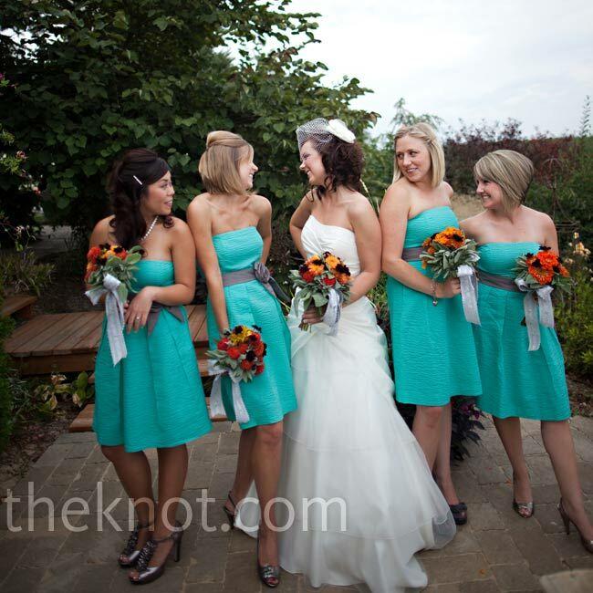 2bb7c92e1f3 Aqua Bridesmaid Dresses