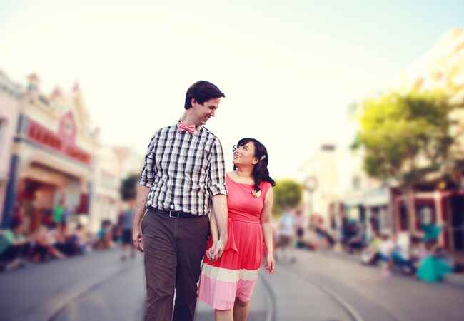 Main Street USA Engagement Session | Lukas & Suzy VanDyke Wedding Photography | From: Blog.TheKnot.com