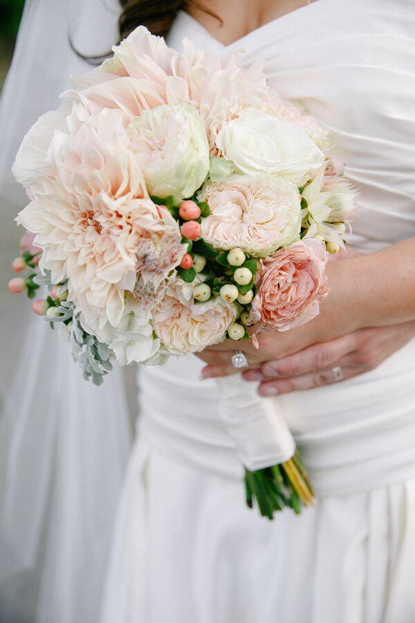 Blush Chrysanthemum And Rose Bouquet