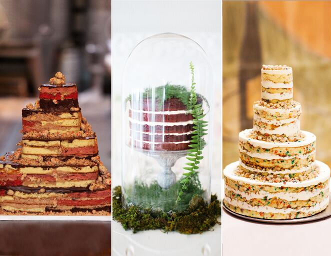 Naked wedding cake trend
