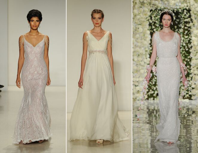 10 new wedding dress trends for 2015 wedding dresses with draped shoulder beading junglespirit Gallery