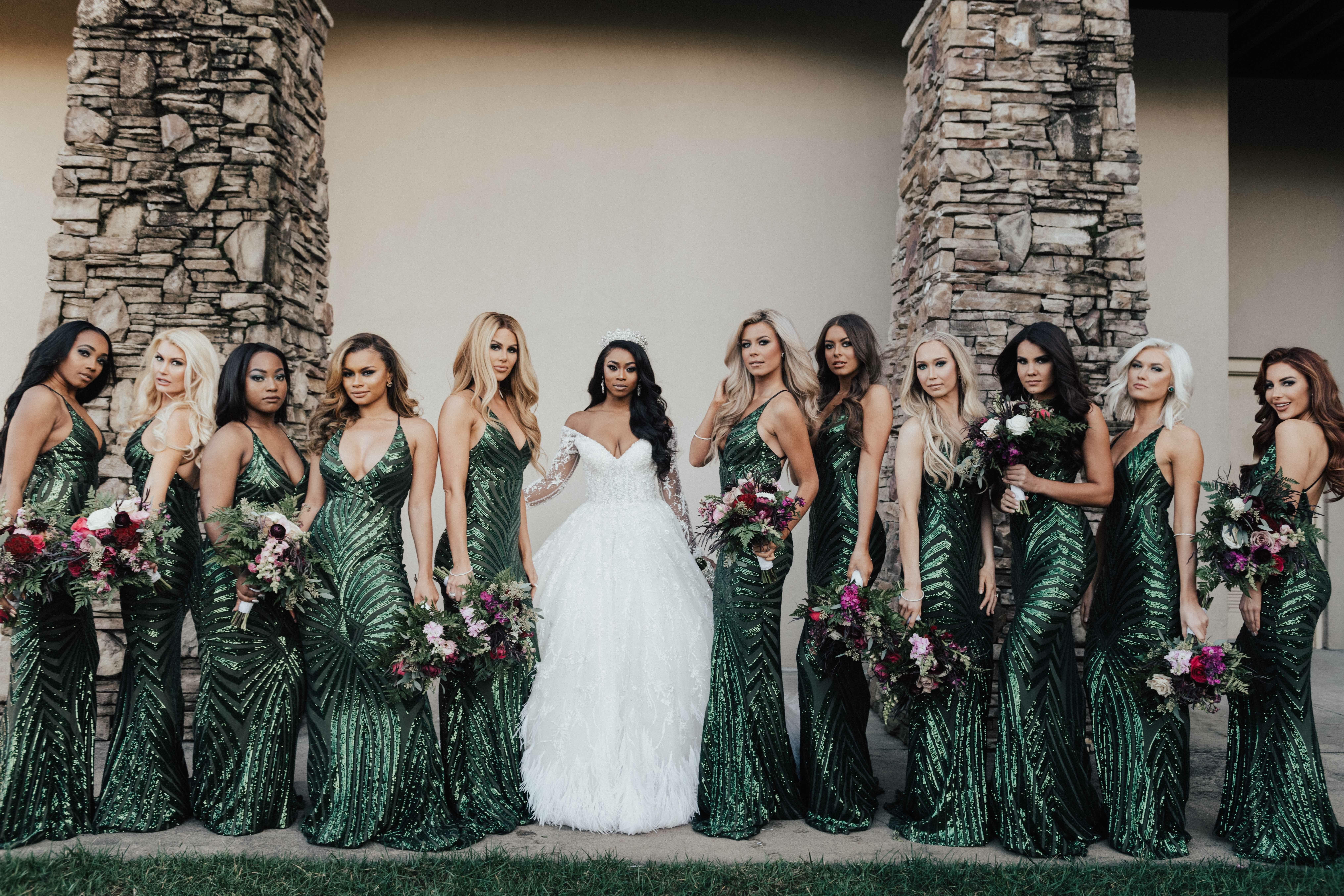 Glamorous Emerald Green Bridesmaid Dresses