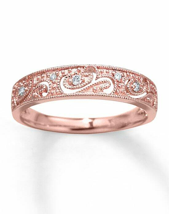 Kay Jewelers Diamond Anniversary Band 10K Rose Gold 1/20ct tw Milgrain-531796706 Wedding Ring photo
