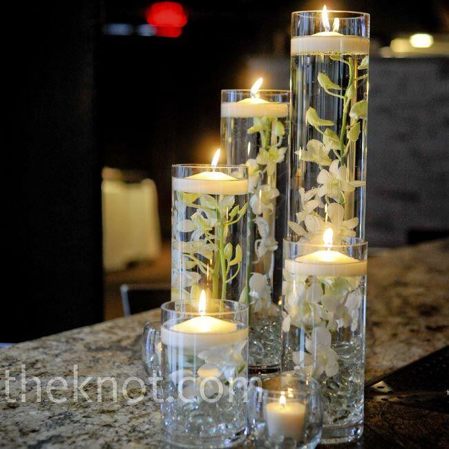 Glass cylinder centerpieces