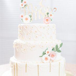 White wedding cakes white and gold wedding cake with elegant piping junglespirit Choice Image