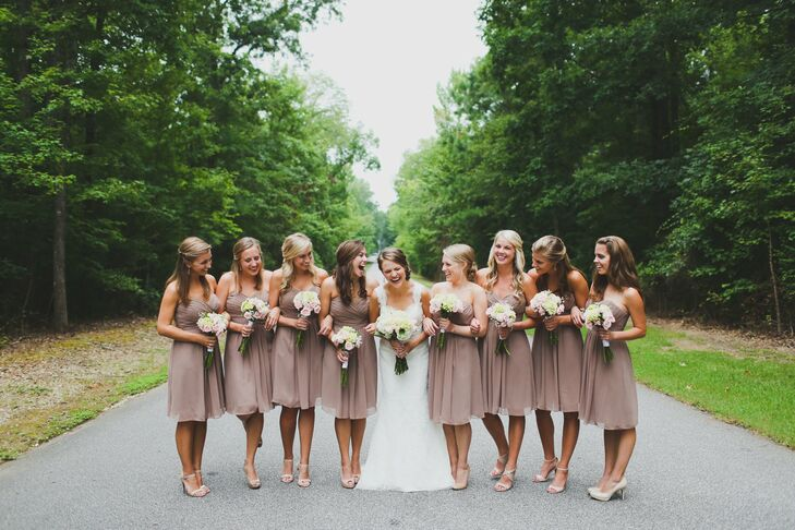 Earth Tone Bridesmaid Dresses