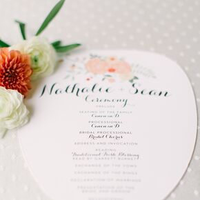 Ceremony Programs On Ivory Cardstock Fans