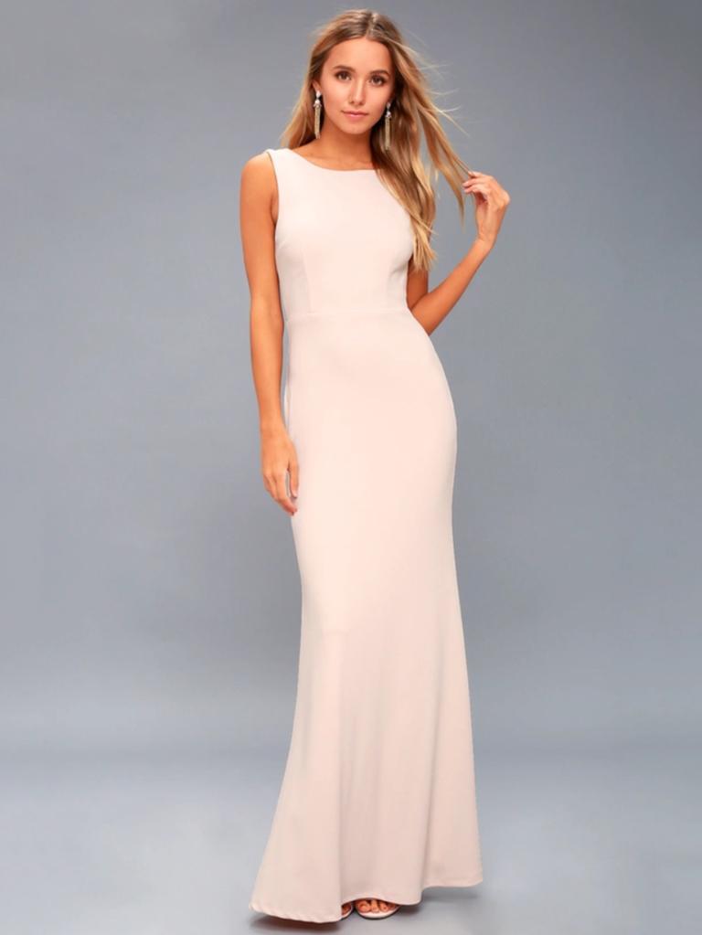 Pink bridesmaid dresses blush bridesmaid dresses to shop now for Super low back wedding dress
