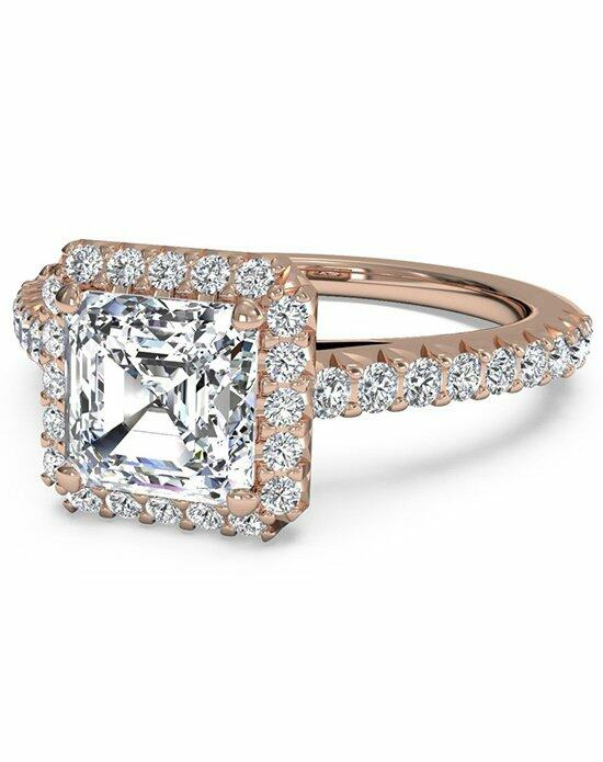 Ritani Asscher Cut French-Set Halo Diamond Band Engagement Ring in 18kt Rose Gold (0.39 CTW) Engagement Ring photo