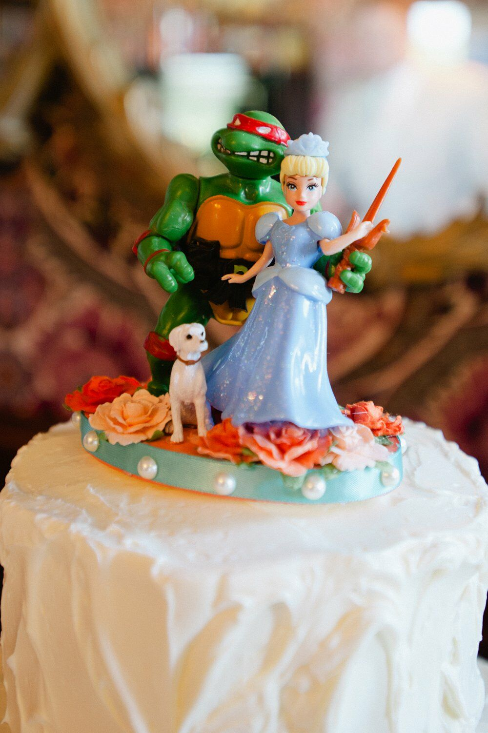 Ninja Turtle And Princess Cake Topper