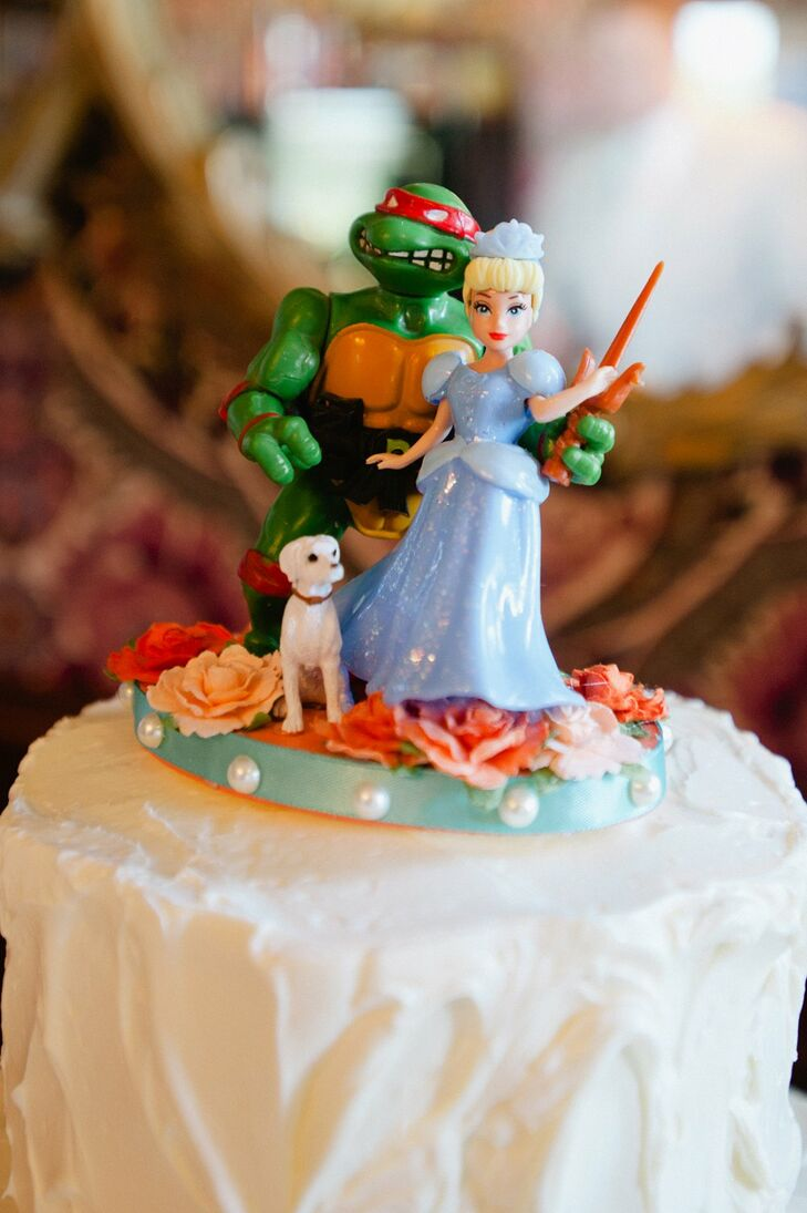 Ninja Turtle and Princess Cake Topper