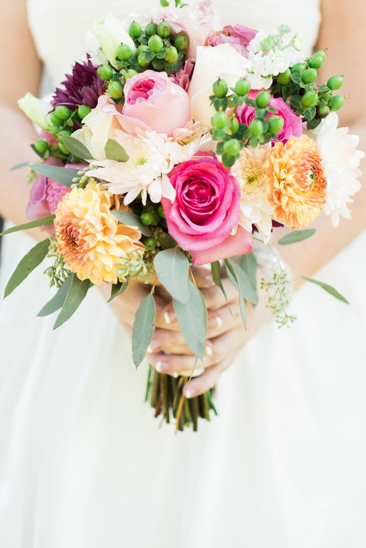 Bright colorful bridal bouquet in minnesota for Bright wedding bouquet