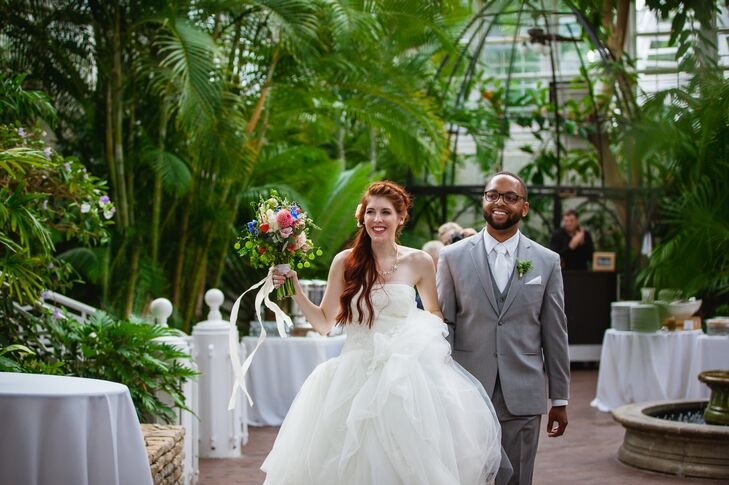 A Natural Modern Wedding At Franklin Park Conservatory In Columbus Ohio