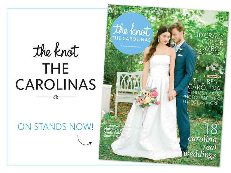 The Knot North Carolina and South Carolina fall and winter 2015 issue on newsstands now