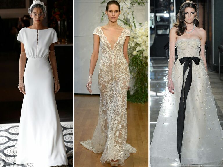 wedding dresses with bridal gloves