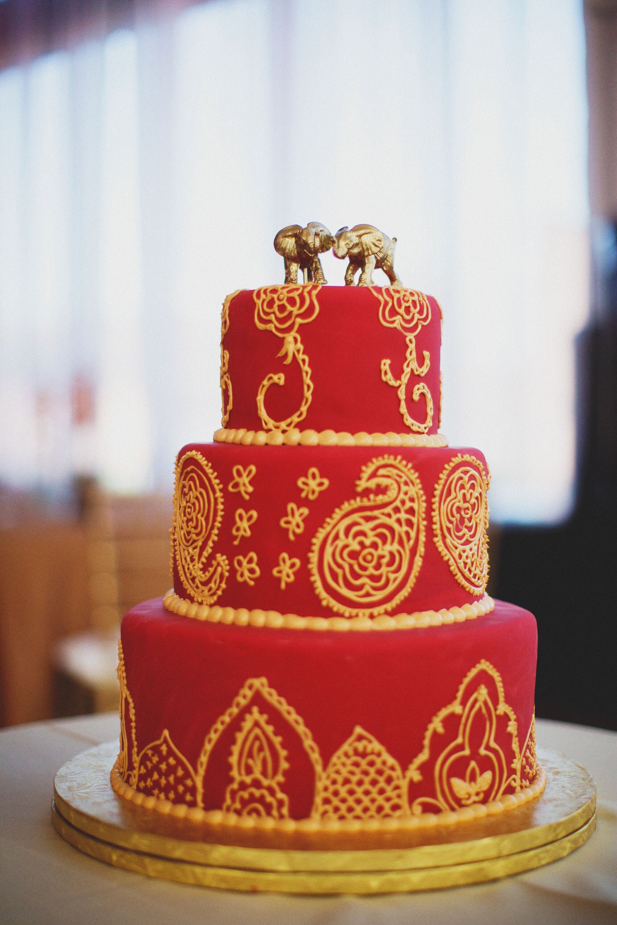wedding cake red and gold and gold fondant wedding cake 23661