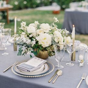 White wedding centerpieces sophisticated gray and gold tablescapes mightylinksfo