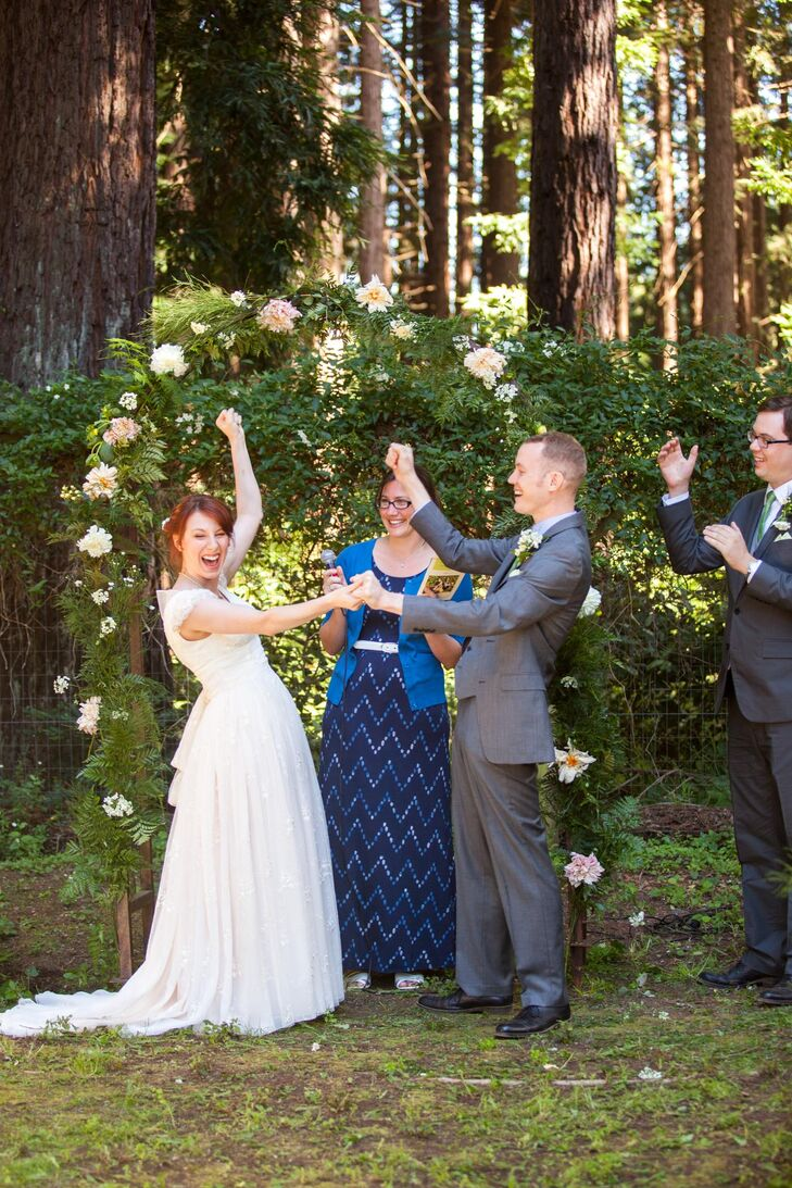 Whimsical Ralston White Retreat Ceremony Arch