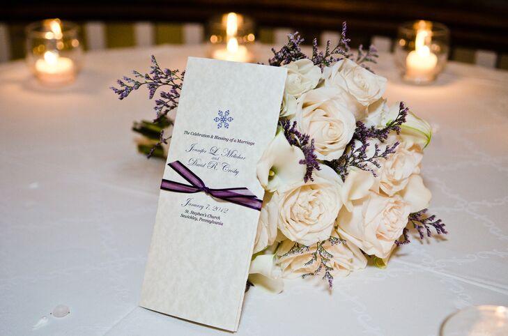 elegant winter wedding programs