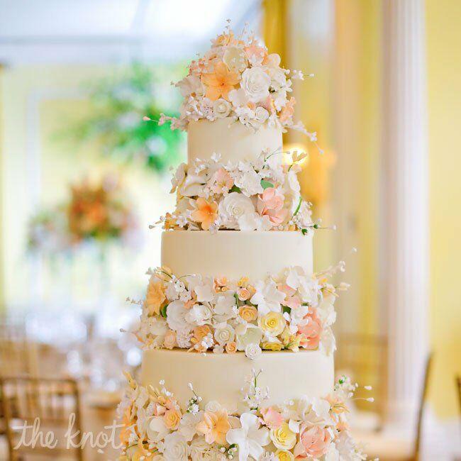 Peach Floral Cake