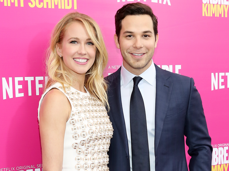 Behind-the-scenes Instagram photos from Anna Camp and Skylas Astin's vineyard wedding